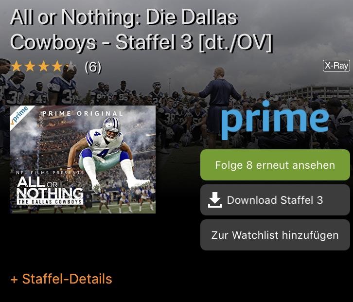 All or nothing Staffel 3 mit den Dallas Cowboys