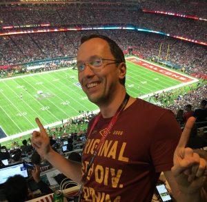 Matthias Gindorf ist glücklich bei Super Bowl LI