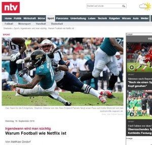Football ist wie Netflix