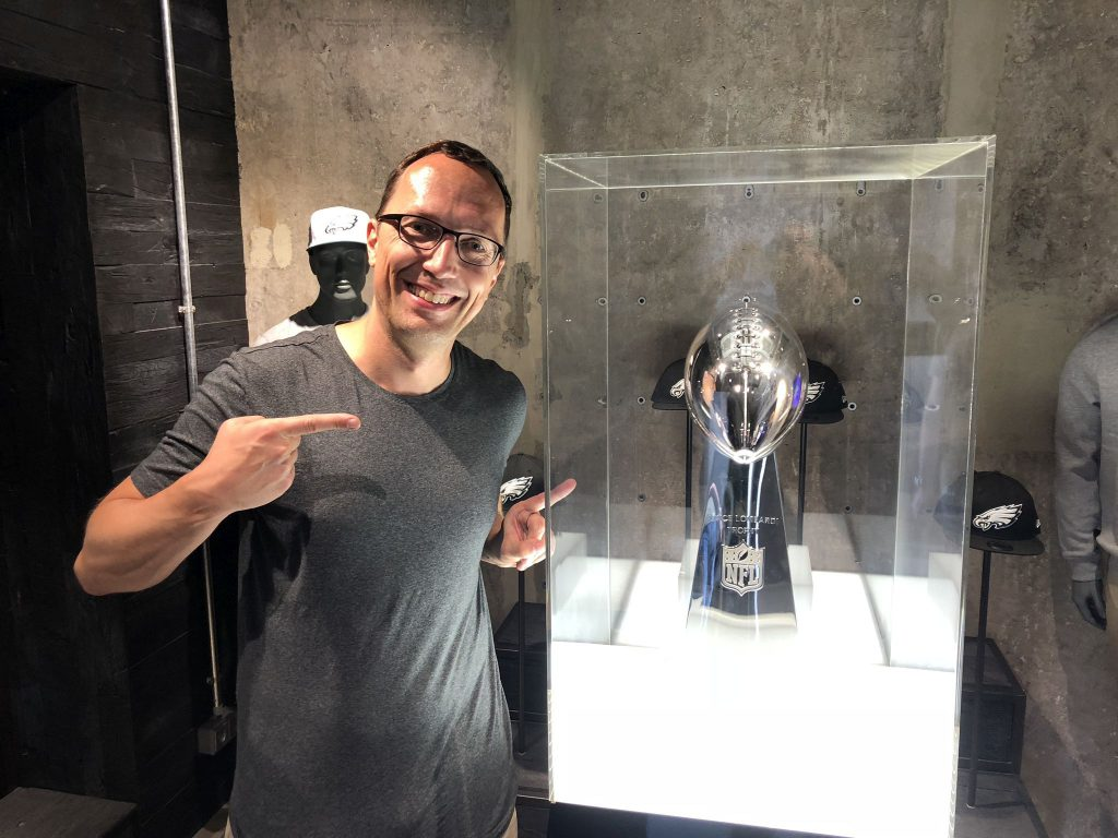 Vince Lombardi Trophy und Gindorf