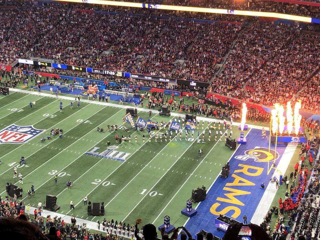 Super Bowl LIII - Einlauf