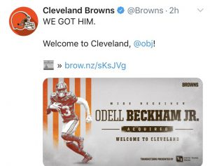 Trade Wahnsinn - Browns OBJ