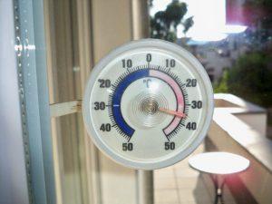 Wetter-Rekorde in der NFL - Thermometer