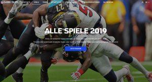 NFL Game Pass - Startseite
