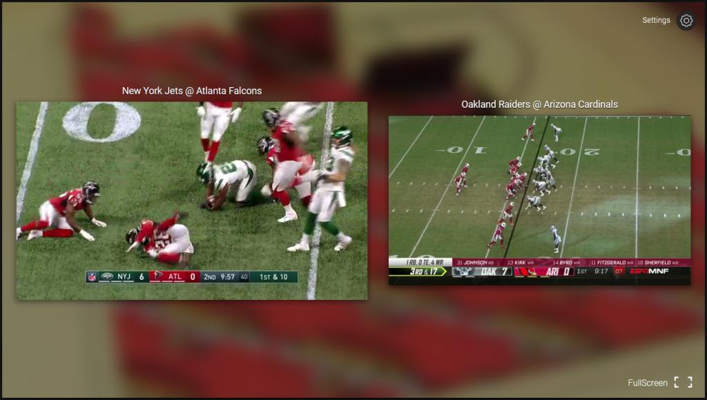 NFL Game Pass - Split live