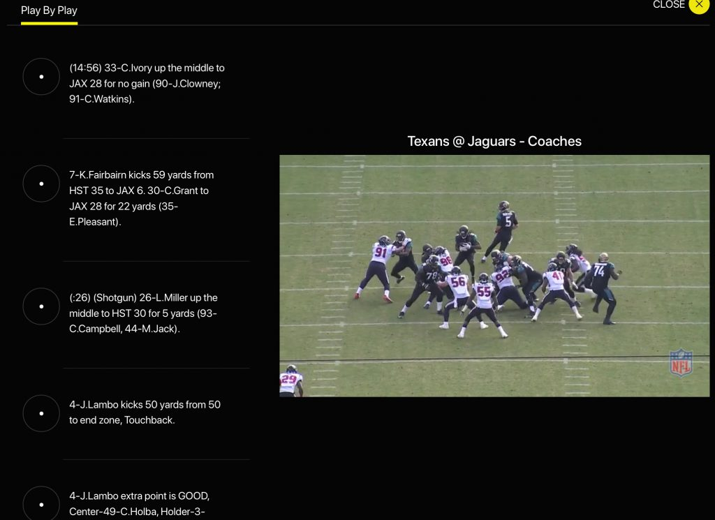NFL Game Pass - Coaches Film
