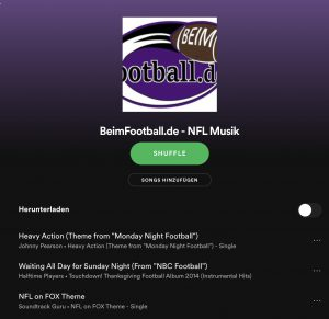 NFL bei Spotify - Titel