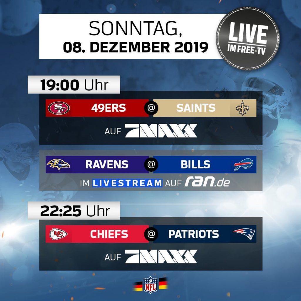 Das beste NFL-Wochenende des Jahres - Plan