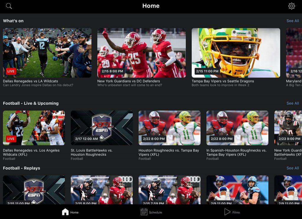 ESPN Player - Start