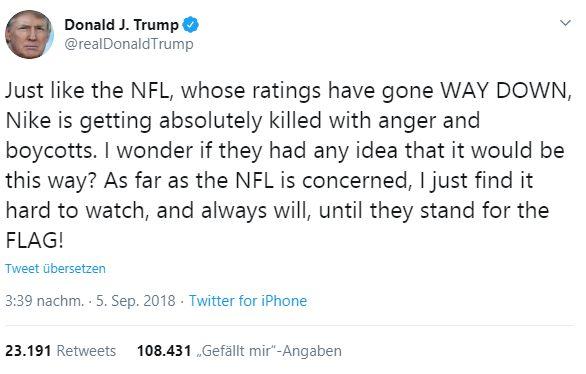 Fällt die NFL-Saison aus - Trump