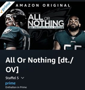 All or nothing - The Philadelphia Eagles - Logo