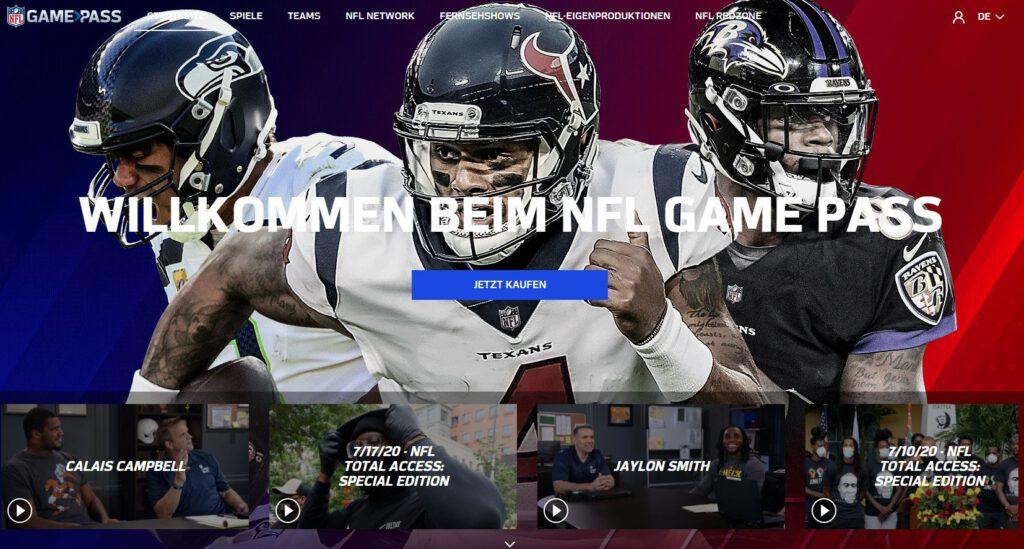 Neu im NFL Game Pass - Titel