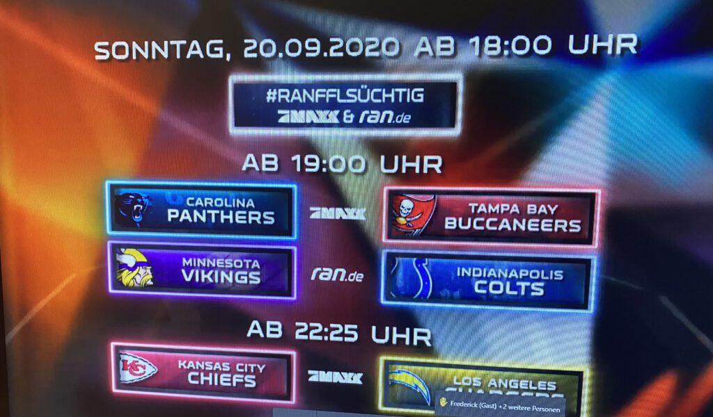 NFL Saison 2020 bei ran Football - Screenshot