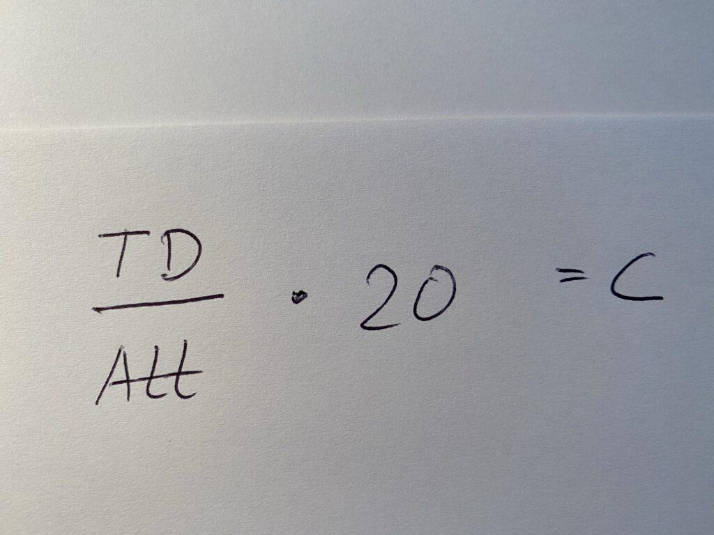 Quarterback Rating - c
