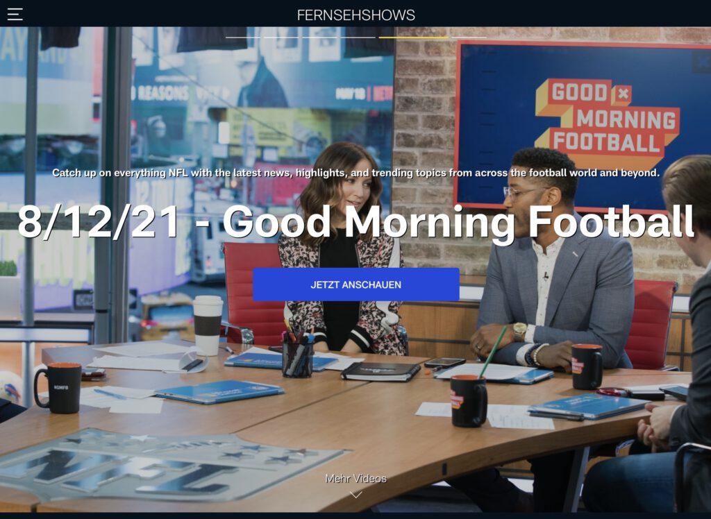 NFL Game Pass - Good Morning Football